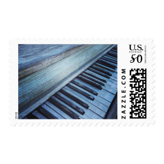 Vintage Piano Keyboard Postage Stamp