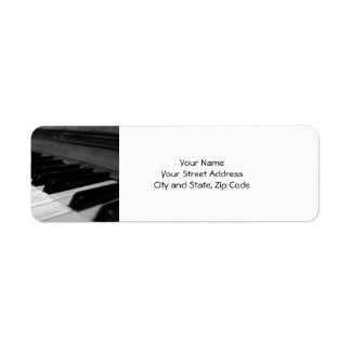 Vintage Piano Keys; Black and White Label