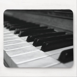 Vintage Piano Keys; Black and White Mouse Pad