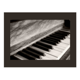 Vintage Piano Keys Photograph Postcard