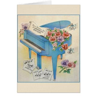 Vintage Piano Music Birthday Greeting Card