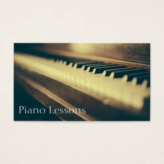 Vintage Piano / Pianist Photograph - Business Card