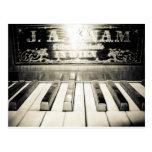 Vintage Piano Print Postcard