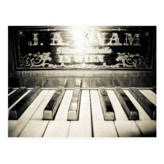 Vintage Piano Print Post Cards