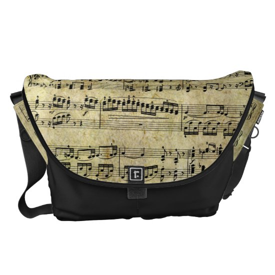 Vintage Piano Sheet Music Notes Courier Bag