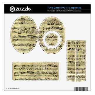 Vintage Piano Sheet Music Notes Turtle Beach Px21 Skins