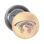 Vintage, piano with elegant, decorative floral ele 2 inch round button