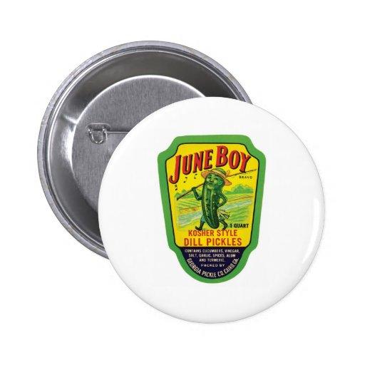 Vintage Pickles Food Product Label Pins
