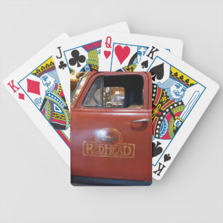 "Vintage Pickup ""Red head"" Truck Bicycle Playing Cards"