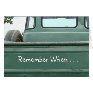 vintage Pickup Truck2 #1- customize Card