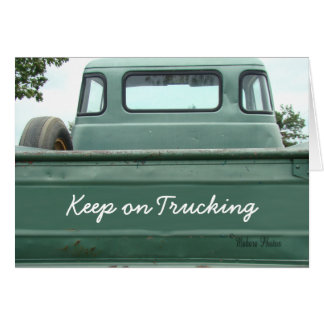 vintage Pickup Truck2 - customize Card