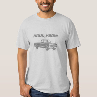 Vintage Pickup Truck Haul Yeah Custom Text - Gray Tees