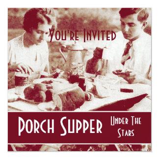 Vintage Picnic Party Invitation