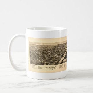 Vintage Pictorial Map of Albany Georgia (1885) Coffee Mug
