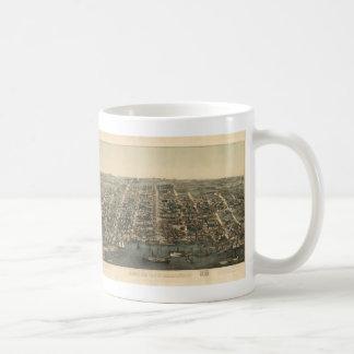 Vintage Pictorial Map of Alexandria VA (1863) Coffee Mug
