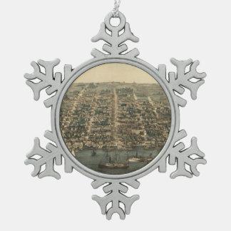 Vintage Pictorial Map of Alexandria VA (1863) Ornaments
