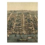 Vintage Pictorial Map of Alexandria VA (1863) Postcard