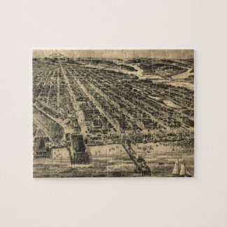 Vintage Pictorial Map of Asbury Park NJ (1910) Jigsaw Puzzle