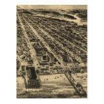 Vintage Pictorial Map of Asbury Park NJ (1910) Postcard