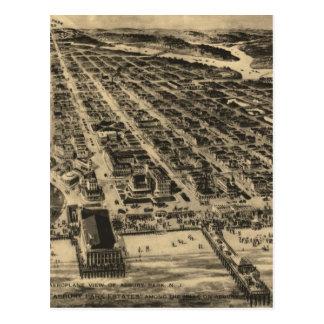 Vintage Pictorial Map of Asbury Park NJ 1910 Postcards