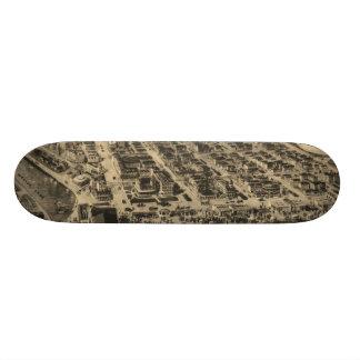 Vintage Pictorial Map of Asbury Park NJ (1910) Skateboard