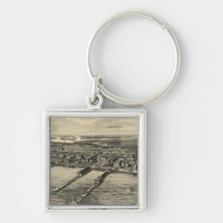 Vintage Pictorial Map of Atlantic City (1909) Keychain