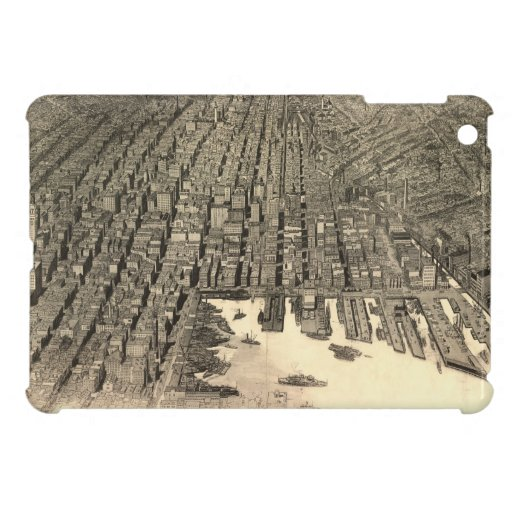 Vintage Pictorial Map of Baltimore (1912) iPad Mini Cover