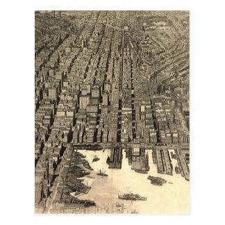 Vintage Pictorial Map of Baltimore (1912) Postcard