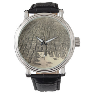 Vintage Pictorial Map of Baltimore (1912) Wristwatches