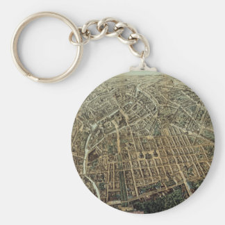 Vintage Pictorial Map of Berlin (1871) Keychain