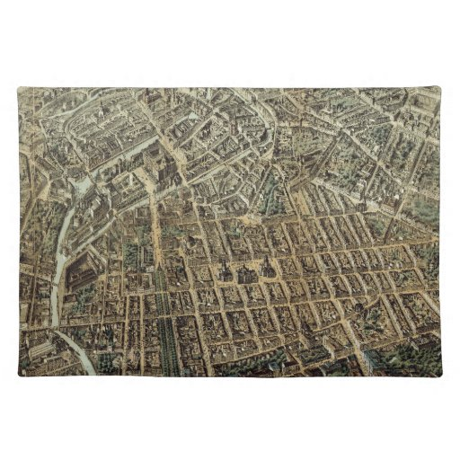 Vintage Pictorial Map of Berlin (1871) Place Mat