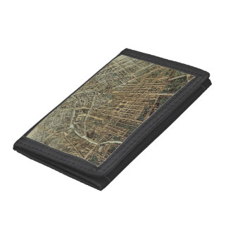 Vintage Pictorial Map of Berlin (1871) Tri-fold Wallet