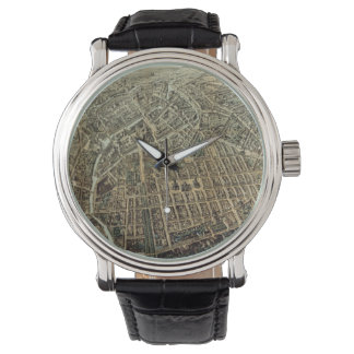 Vintage Pictorial Map of Berlin (1871) Wristwatch