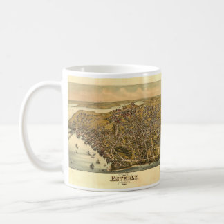 Vintage Pictorial Map of Beverly MA (1886) Coffee Mugs