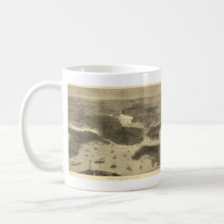 Vintage Pictorial Map of Boston (1870) Classic White Coffee Mug