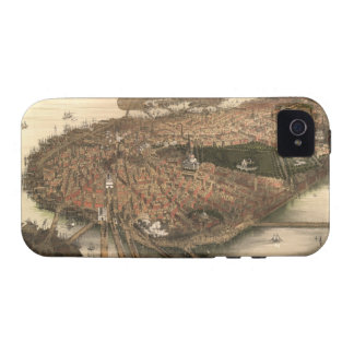 Vintage Pictorial Map of Boston (1877) iPhone 4 Cover