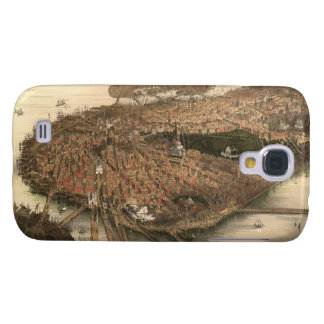 Vintage Pictorial Map of Boston (1877) Samsung Galaxy S4 Cover