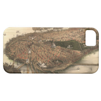 Vintage Pictorial Map of Boston (1877) iPhone 5 Cover