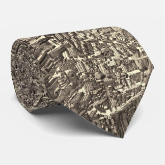 Vintage Pictorial Map of Boston (1880) Neck Tie
