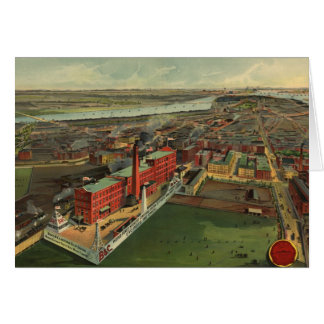 Vintage Pictorial map of Boston (1902) Card