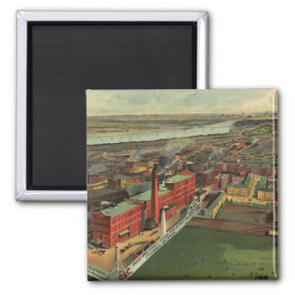 Vintage Pictorial map of Boston (1902) Magnet