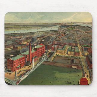 Vintage Pictorial map of Boston (1902) Mouse Pad