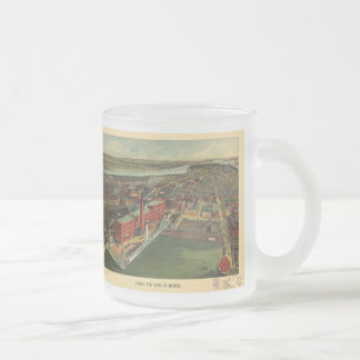 Vintage Pictorial map of Boston (1902) 10 Oz Frosted Glass Coffee Mug