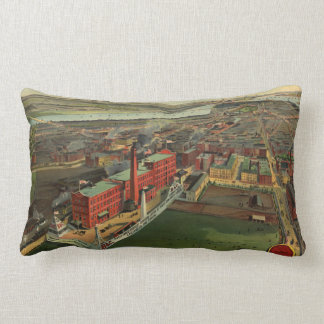 Vintage Pictorial map of Boston (1902) Pillows