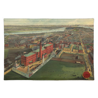 Vintage Pictorial map of Boston (1902) Place Mats