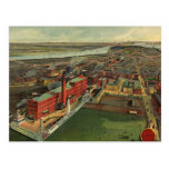 Vintage Pictorial map of Boston (1902) Postcard