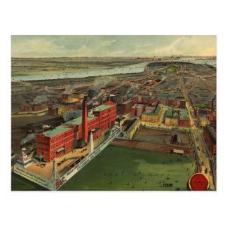Vintage Pictorial map of Boston (1902) Postcard