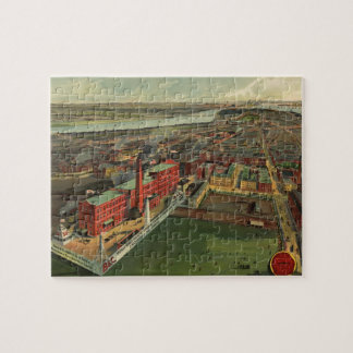 Vintage Pictorial map of Boston 1902 Jigsaw Puzzles