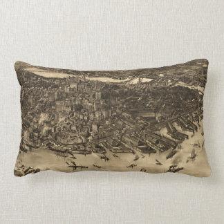 Vintage Pictorial Map of Boston (1905) (2) Lumbar Pillow