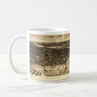 Vintage Pictorial Map of Boston (1905) (2) Classic White Coffee Mug